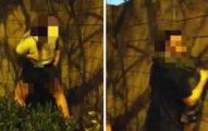 英國2對男女公然在市中心表演「咚壁式愛愛」,貌似在比賽隔壁還有「戰友」!(兒童不宜影片)