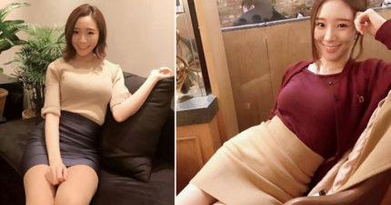 超正英文老師穿窄裙呈現「完美曲線」,「#11低胸透視裝」學生擦鼻血問:「哪裡可以報名?!」(IG)