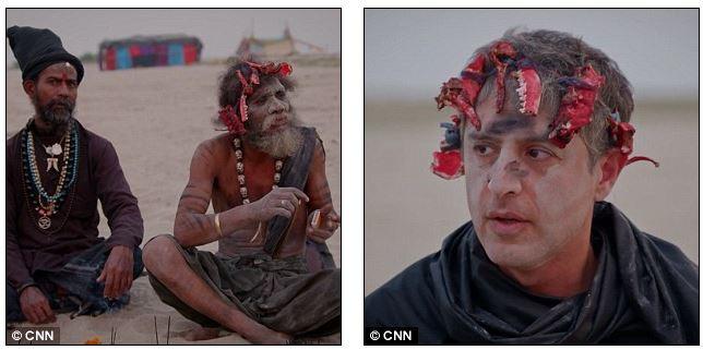 為了採訪印度教「記者吃人腦」用人類頭骨喝酒,信徒威脅他:「再說就把你的頭砍下來!」(影片)