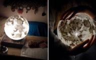 「摘下月亮送給你」不是夢想!超美「手繪月亮燈」可以讓你抱著整顆月亮!「地球版本」比月亮更美!