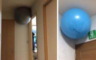 日本人家裡出現奇怪現象,「巨大瑜伽球體懸浮在空中」原來是最強收納方法!
