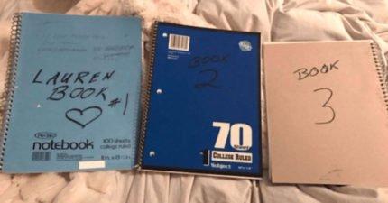 孫女16歲生日收到爺爺14年前製作的「3本筆記本」,翻開感動驚「一生被記載下來」!