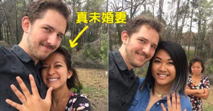 他「為了得到讚與祝福」連續跟不同人訂婚5次,真‧未婚妻在背景的反應讓網友笑到崩潰!