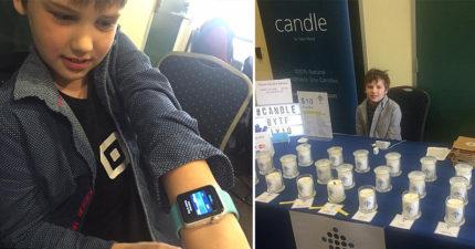 9歲男孩因「媽媽不買Apple Watch」生氣創業 現在「年賺46萬」變小企業家!
