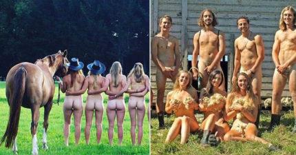 獸醫系學生下海拍攝讓人想大喊「放開那些動物」的全裸月曆,同學:「第一次拿雞雞」! (9張)