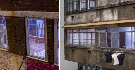 老舊建築的近拍照看起來很普通,退一步看你已經跪在地上「有神快拜」!(19張)