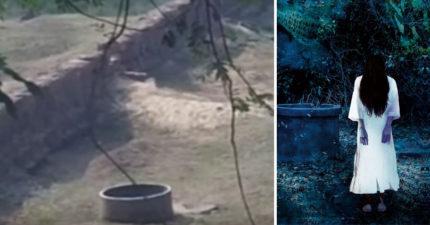 監視器清楚拍到「幽靈跳井自殺」畫面重演!放慢影片「超明顯」!(影片)