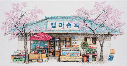 藝術家花了整整20年畫下所有看過的「便利商店」,背後隱藏著現代人看不到的悲歌。(14張)