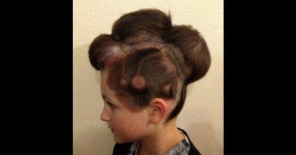注意看!小妹妹頭上可不是最新潮的髮型,而是拯救她性命的超驚奇技術。