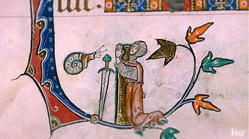 為何中世紀的圖畫中不停看到「騎士打蝸牛」?原來意義這麼邪惡!