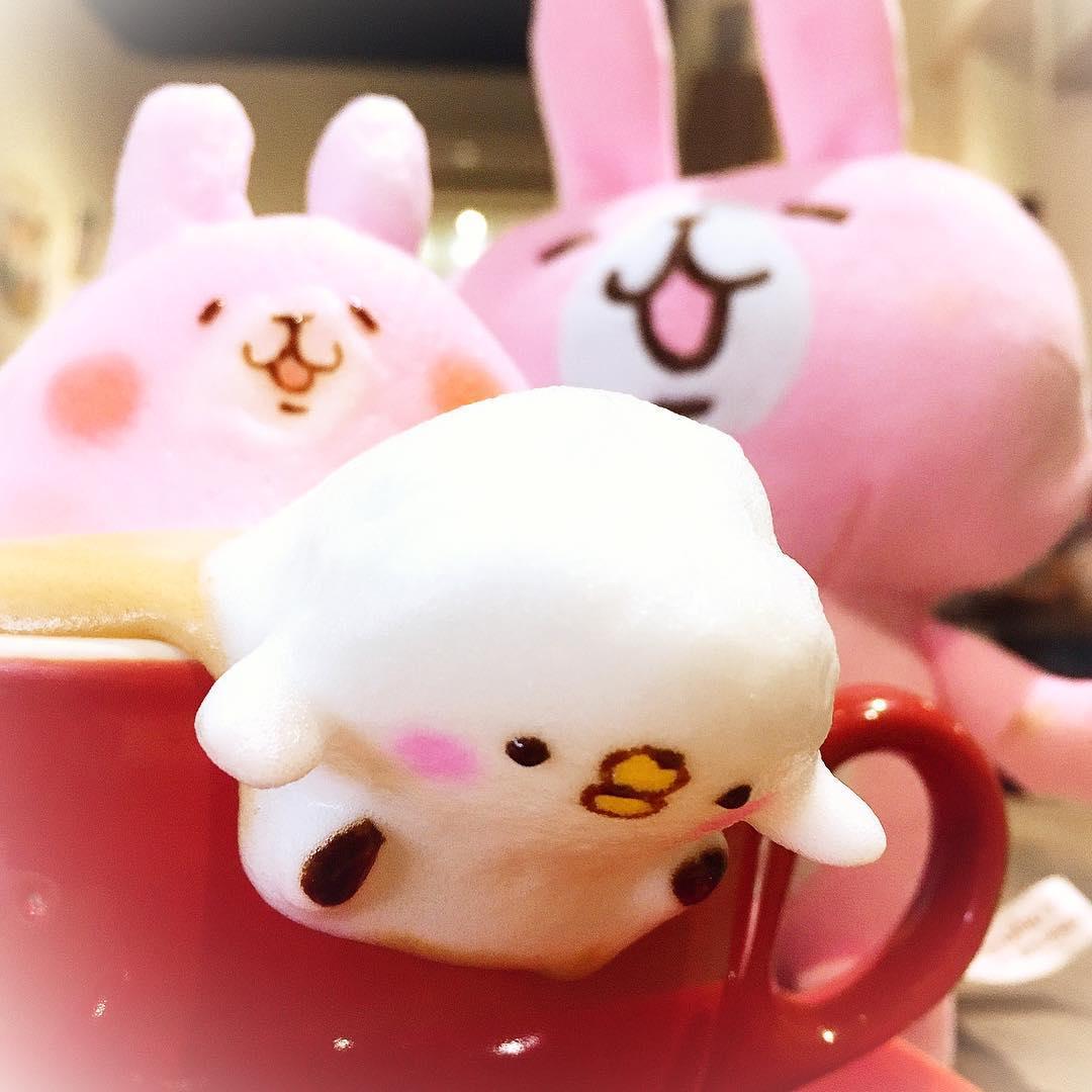 10款讓人捨不得喝下去的「超萌立體拉花」咖啡!在台灣就喝得到囉!(11張)