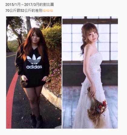 她從70公斤「象腿」減到56公斤後,變身「甜美超正女神」還成為模特兒!