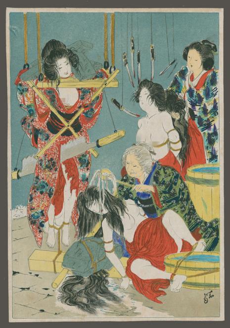 12張讓人血脈賁張的「日本繩縛S.M之父」伊藤晴雨超恥度作品。#10連孕妻都不放過!(兒童不宜)