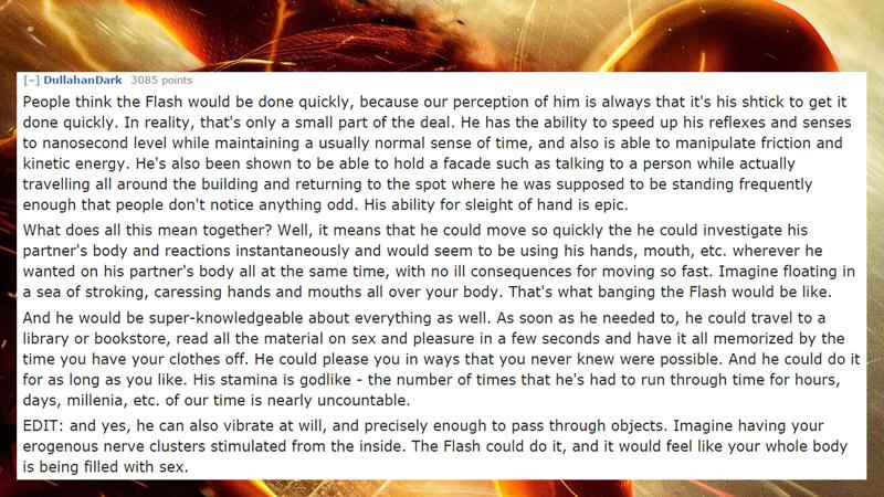 11位網友討論出「跟他/她愛愛最爽」的超級英雄。其實蝙蝠俠才是No.1?!(兒童不宜)