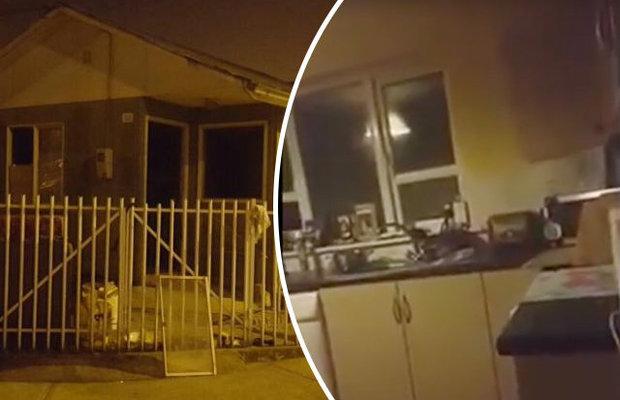 警察獲報房子鬧鬼死都不相信,直到親眼目睹「家具漂浮、被刀追殺」嚇得秒落跑...(影片)