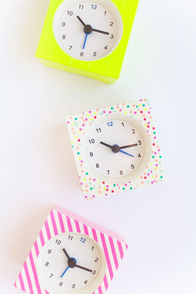 Personalize your Väckis alarm clock with washi tape.