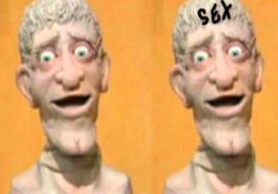 And finally there's our buddy Head from Art Attack! He always seemed creepy and now I understand why: