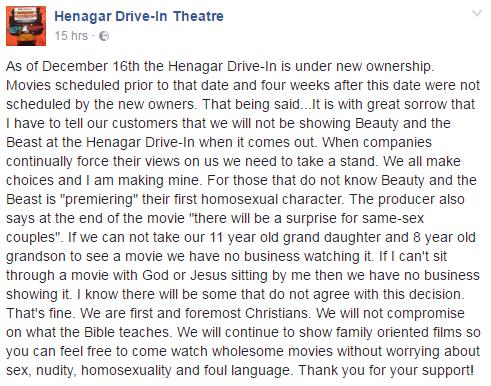 因為電影版《美女與野獸》裡有人獸戀之外的橋段「同性戀」,美國影院憤怒「禁播」!