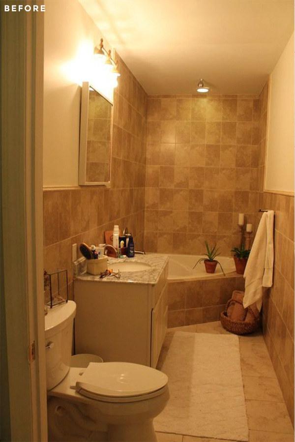 This basic beige bathroom...