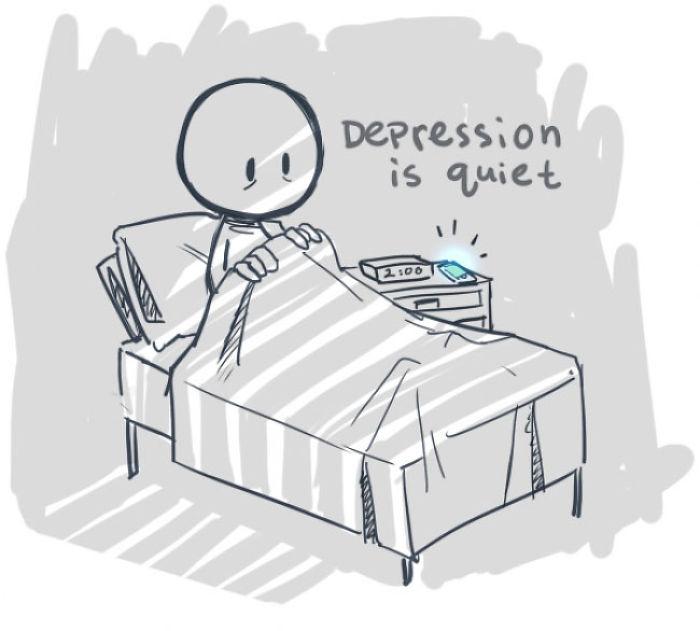 他套著隱藏憂鬱症的笑臉面具跟朋友見面,下雨笑臉花了才找到了心靈解藥!