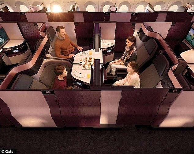 這家航空推出革命性「雙人床」!不用買到頭等艙「4個座位旋轉」可打麻將!