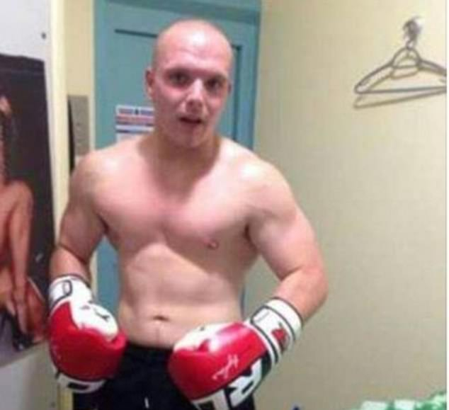 McCready previously posted a photo of himself posing in boxing gloves in his prison cell