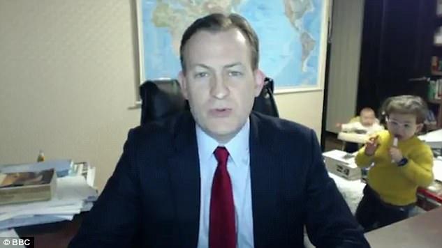 BBC「被小孩亂入」影片爆紅,「片中女子不是保姆」全國媒體歧視遭網友罵翻!