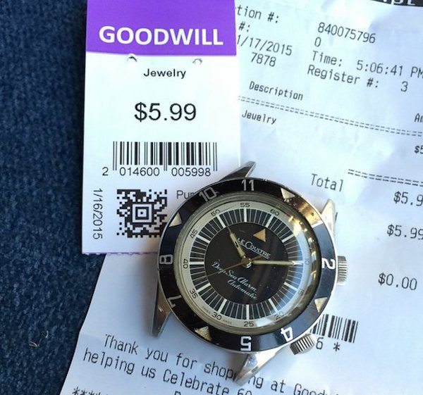 lecoultre deep sea alarm goodwill Thrift shop finds that turned out to be a goldmine (16 Photos)