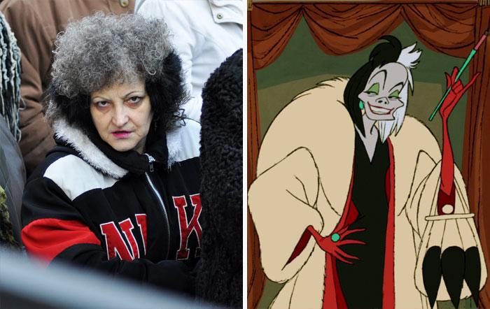 This Lady Looks Like Cruella De Vil From 101 Dalmatians