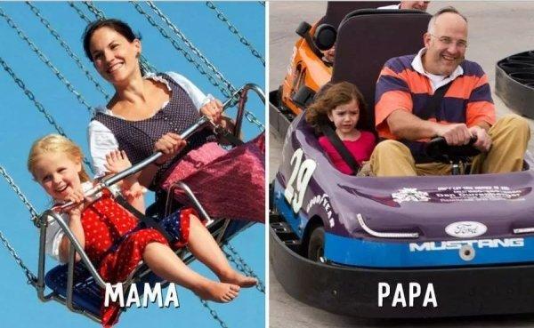 23張「爸爸媽媽育兒差別」爆笑圖,證明現在人心理病都是被整出來的!