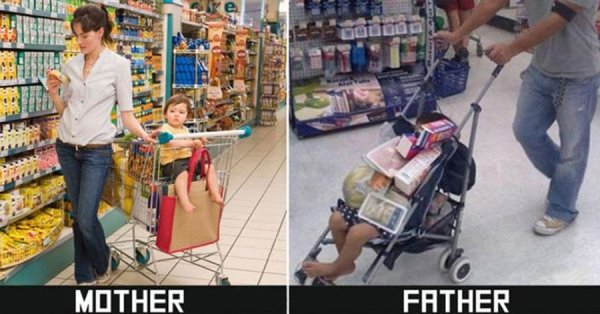 moms versus dads mothers fathers funny differences 16 Proof that moms and dads have far different views on how to raise their children (25 Photos)