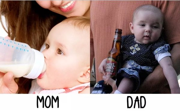 moms versus dads mothers fathers funny differences 19 Proof that moms and dads have far different views on how to raise their children (25 Photos)