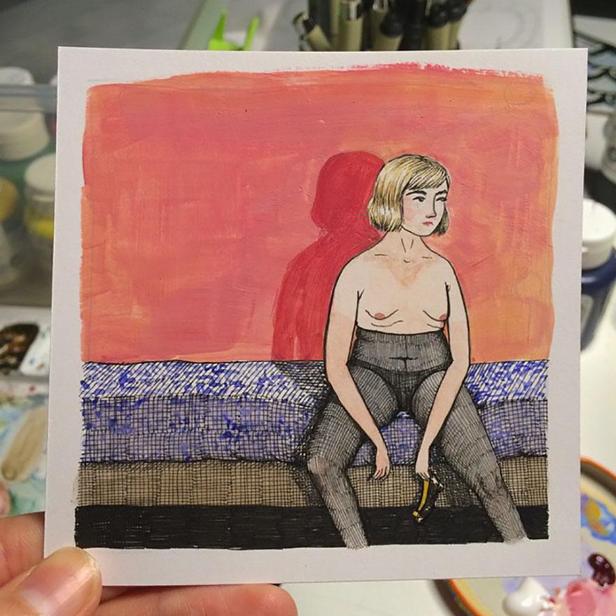 插畫家畫出「每個女人沒有人在看的時候露出的真面目」!超中肯#17比男生還噁心...(30張)