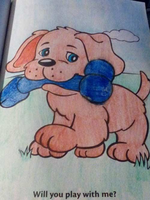 37張兒童不宜照片證明「兒童著色本」絕對不能落在大人的手裡!#26小仙子愛上GG了...