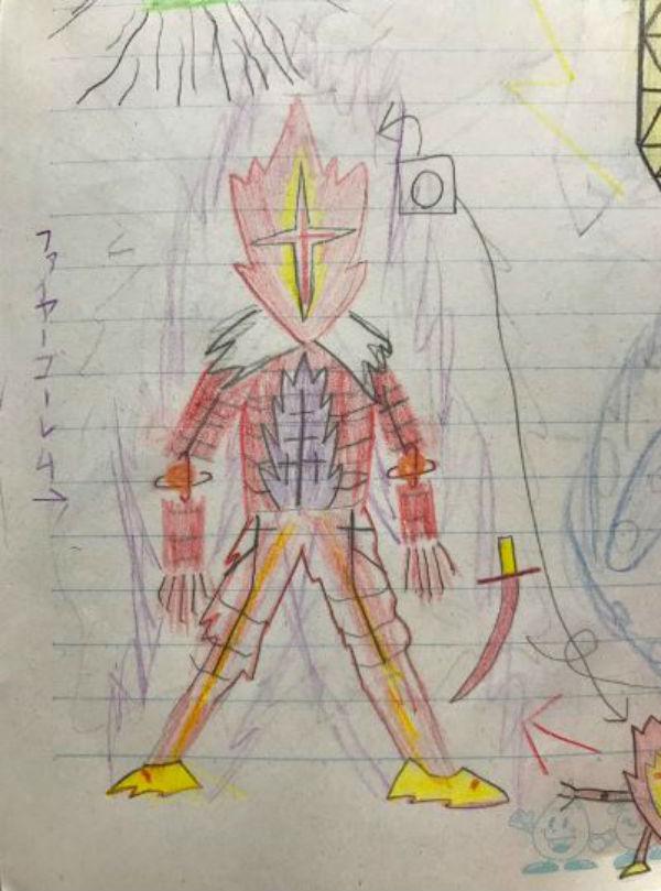 10張老爸把兒子的「隨手亂畫→酷炫漫畫角色」的驚人對比