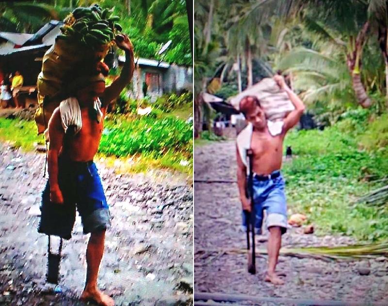 獨腿男子每天賣力「扛50公斤香蕉」走4公里,「再艱苦也必須走下去」背後故事超洋蔥!(影片)