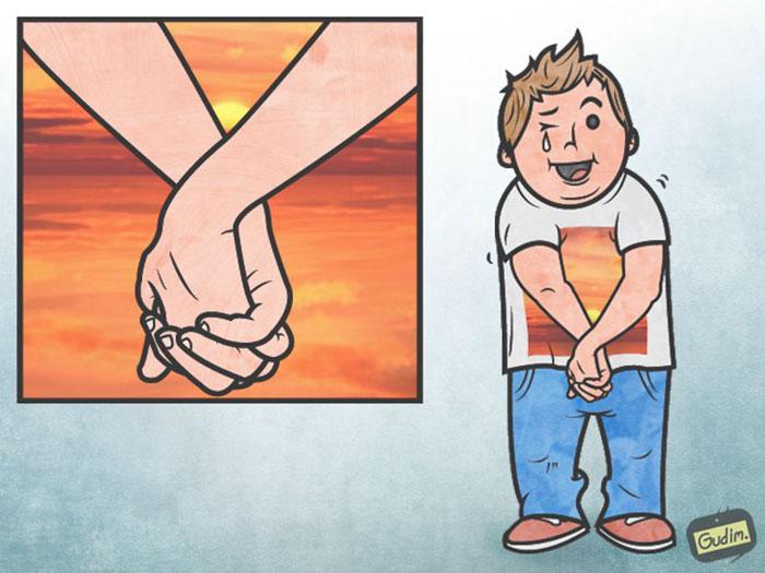 30張「看兩次才能看懂」的諷刺人生插畫!#16這種自拍每天都看的到...