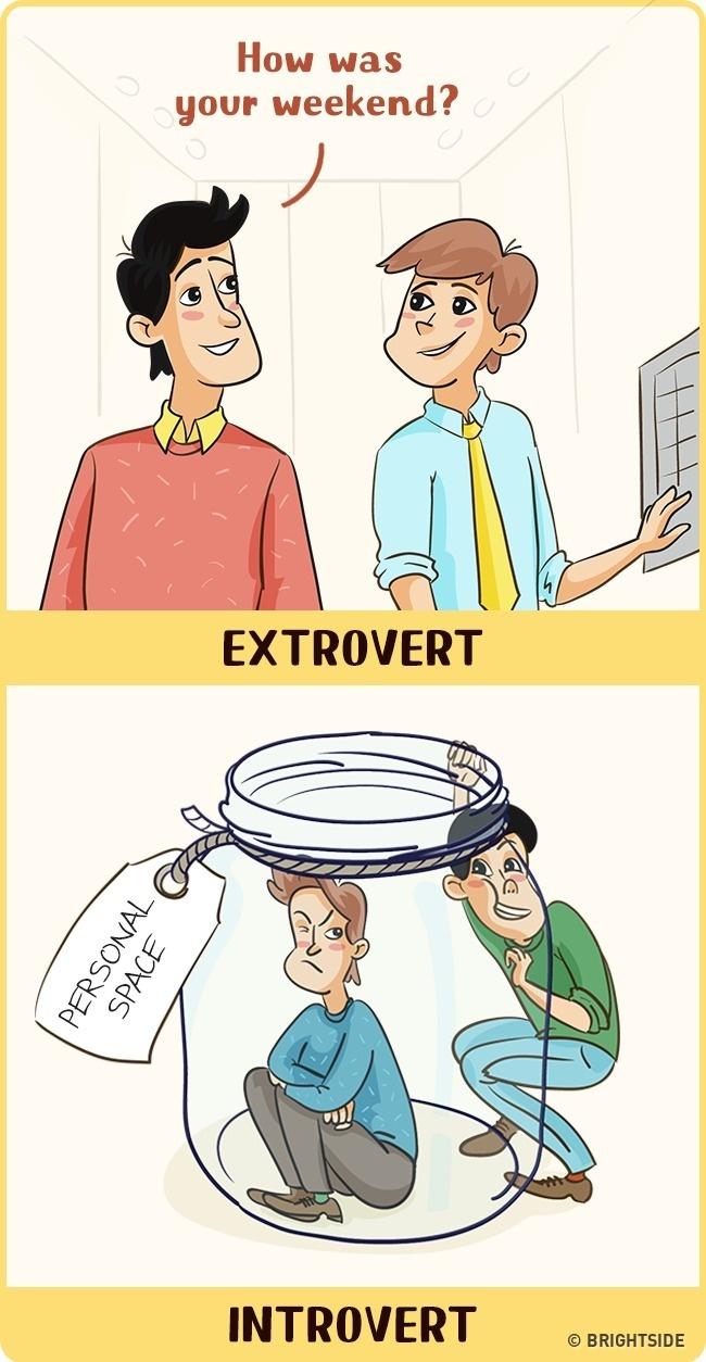 12張證明你一點都不懂「外向人 VS 內向人」的真實差別!