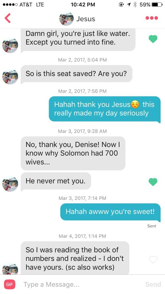 她在交友APP上「跟耶穌配對到」開始聊天 耶穌的「創世紀把妹話術」讓網友全笑瘋!