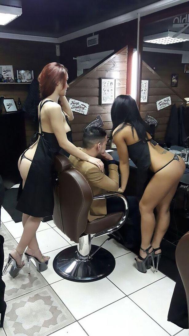 理髮廳出現「只穿圍裙」性感理髮女郎,男客人不惜「被騙」也要朝聖!