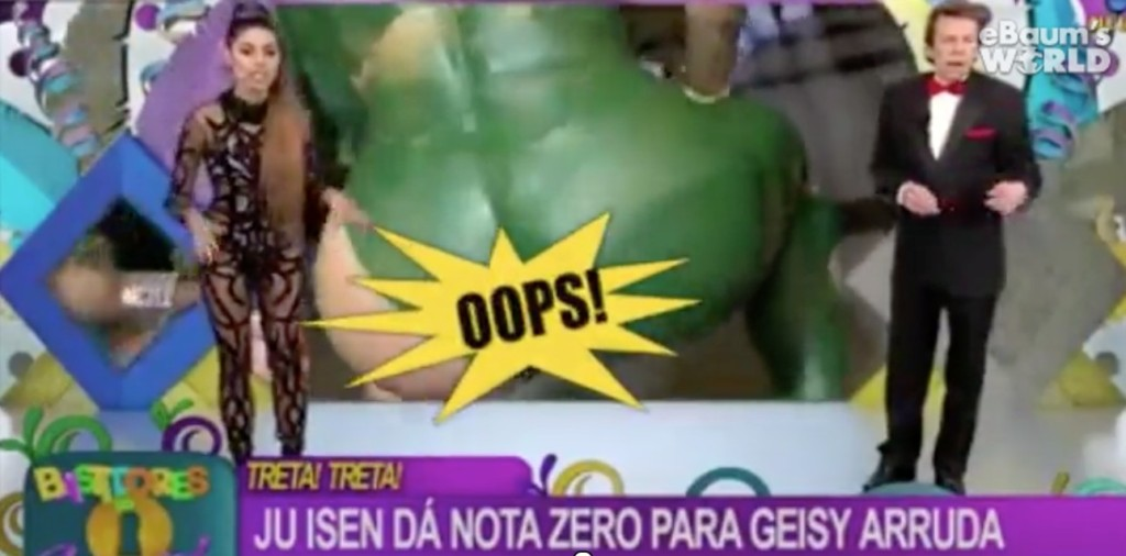 巴西辣妹不小心在直播節目大秀「巧克力海星」,讓主持人「喔謝」!
