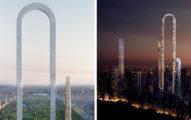 史上最狂「首座U型摩天大樓」!連電梯都U型「拉直後」打敗世界第一高杜拜塔!(8張)