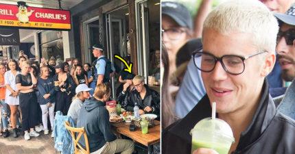 小賈斯汀被逮到外出吃飯「大批瘋狂粉絲喪屍」超驚悚!小賈:「你們繼續像動物一樣...」(影片)