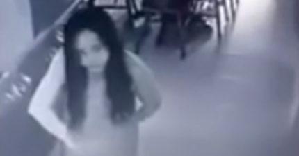 監視器拍下女傭被鬼附身非人類扭動,很多雇主跳出來都說遇過「同樣靈異事件」其實有陰謀!(影片)