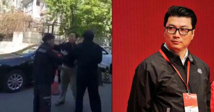 中國快遞員慘遭奧客連賞5巴掌,老闆霸氣捍衛狠嗆:「不追究我不配做總裁!」(新增黑貓回應)
