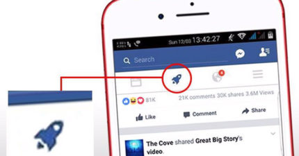 臉書偷偷新增「神秘火箭」符號!全新超棒功能但不是每個人都有!