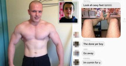 23歲變態男「虐待踹死13歲男童」被判終身坐牢,在獄中爽上網傳「性感雙腿照」給家屬炫耀!