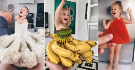 19張天才媽媽幫女兒設計「超美蔬果洋裝」照爆紅!#1草莓洋裝太犯規了!
