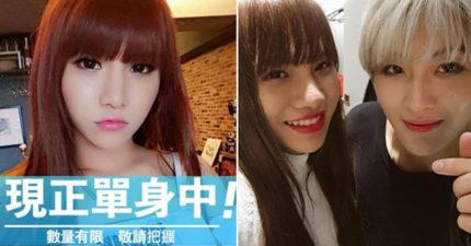 韓國男團成員邀請「小A辣」拍照,她拿起鏡子瞬間「嚇跑」對方...