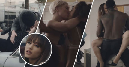 亞莉安娜最新MV被網友虧「根本就是各種打野戰姿勢」兒童不宜,片中路人差點HOLD不住!(影片)
